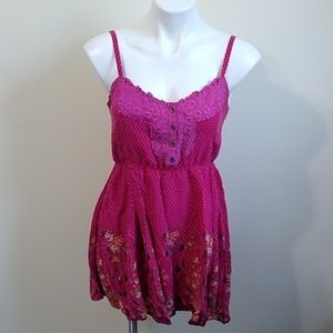 Free People polka dot baby doll dress small NWOT